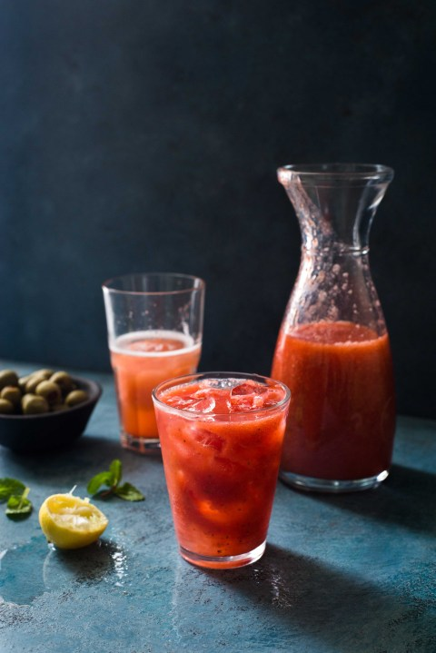 strawberry & orange lemonade