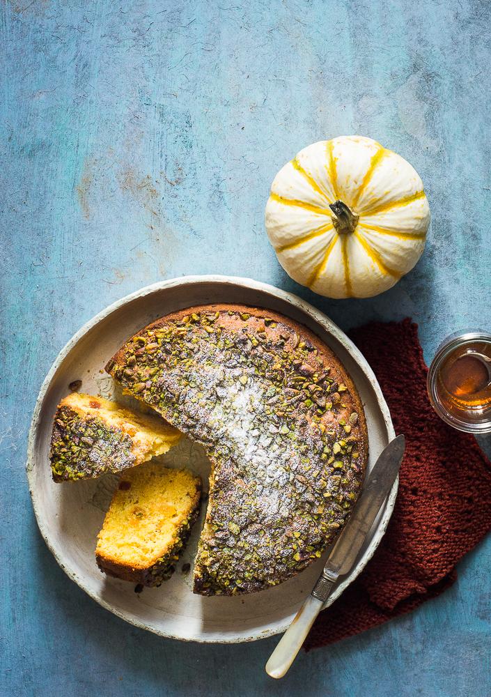 pumpkin apricot whole wheat cake