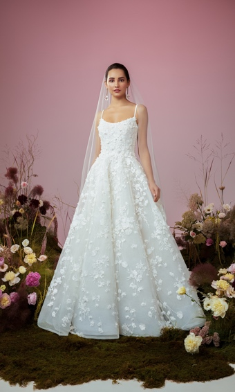 anne barge blue willow ballerina ballgown