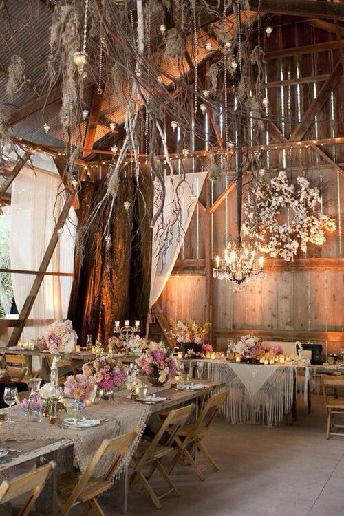 Country Chic Indoor Wedding Decor  The White Sparrow Barn