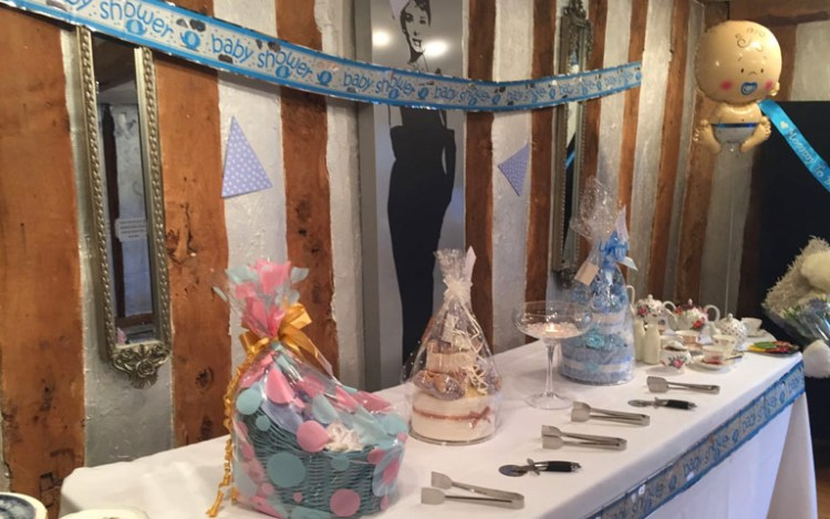 Baby shower at the White Swan Hotel in Henly in Arden