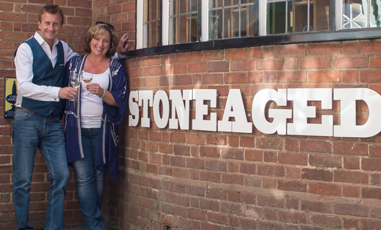 Nigel and Maria at STONEAGED Restaurant in Henley