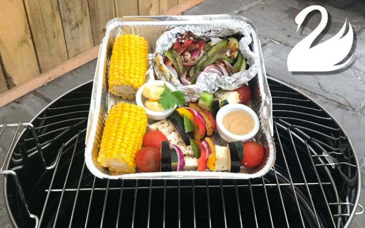 Cook your own BBQ vegetarian option at the White Swan