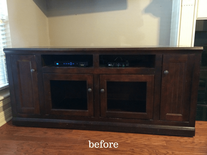Diy Tv Stand Makeover Annie Sloan Chalk Paint In Old White The
