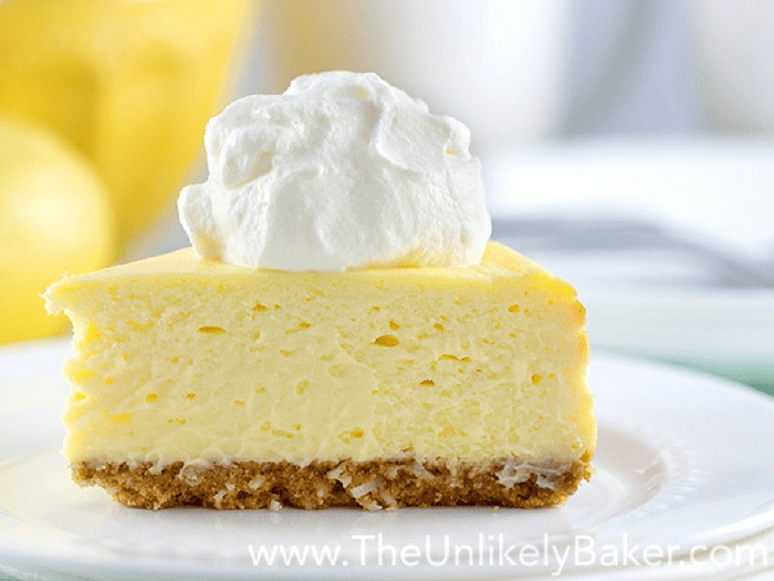 Best Lemon Cheesecake Ever by The Unlikely Baker