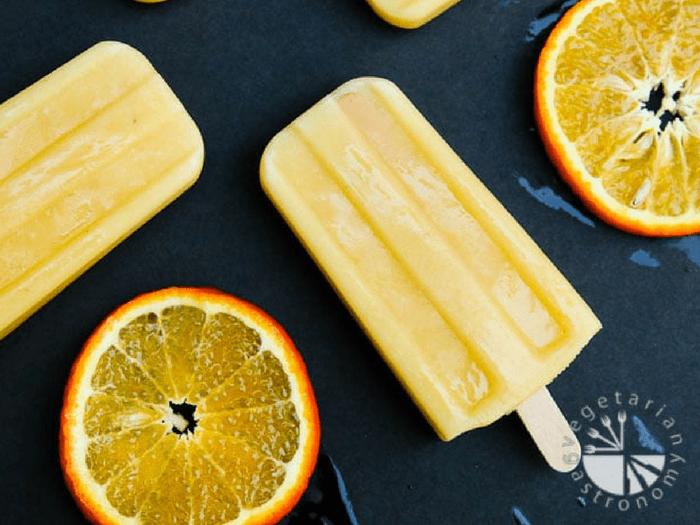 Orange Julius Popsicles by Vegetarian Gastronomy