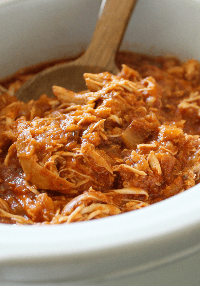 Slow Cooker Shredded Pineapple Chicken vertical by The Whole Cook(1)