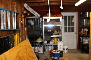 The garage- that doors leads into the mudroom.