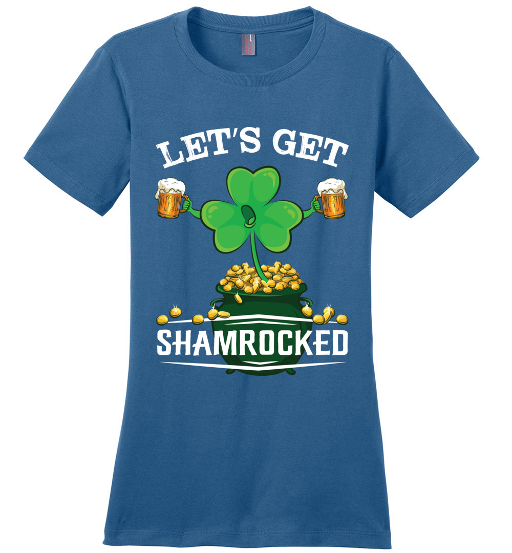 2a53d9346 Let's Get Shamrocked Ladies Perfect Weight Tee - The Wholesale T ...