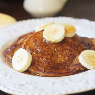Vegan Banana Pumpkin Pancakes