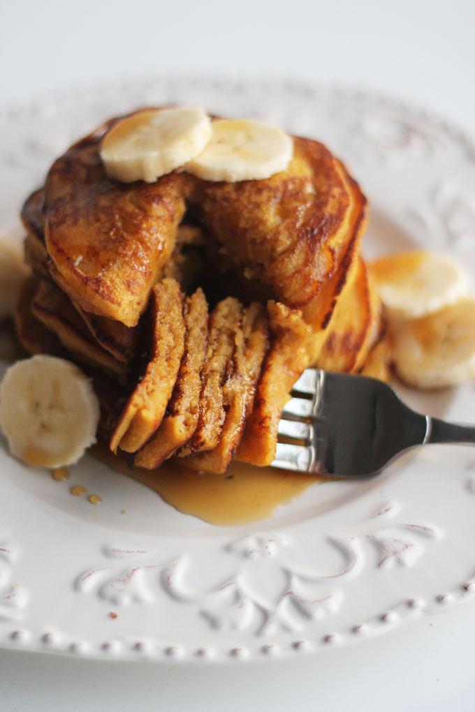 Stack-of-Pumpkin-Banana-Pancakes-