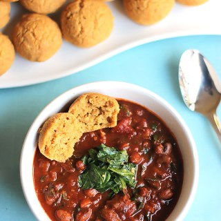 Black-eyed Pea Chili With Collards and Mini Maple Corn Muffins