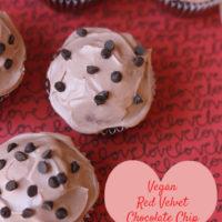 Vegan Red Velvet Chocolate Chip Cupcakes