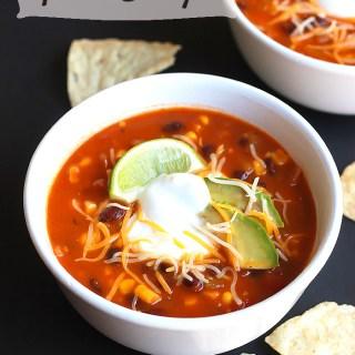 Vegetarian Taco Soup
