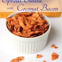 Sprout Salad with Coconut Bacon