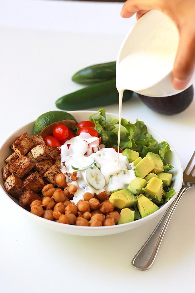 Pouring-Cream-Spicy-Chickpea-Burrito-Bowl