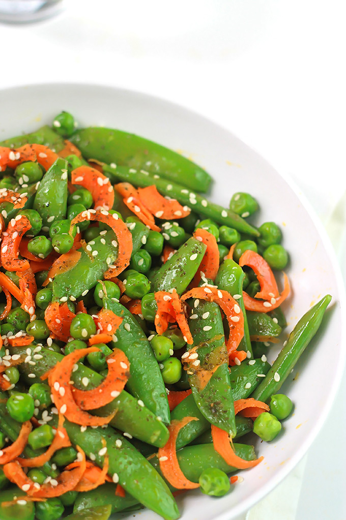 Sesame Sugar Snaps, Peas & Carrots - The Whole Serving