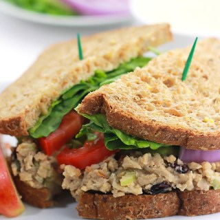 Cranberry Chickpea Salad Sandwich