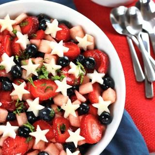 Strawberry, Blueberry, Jicama Salad