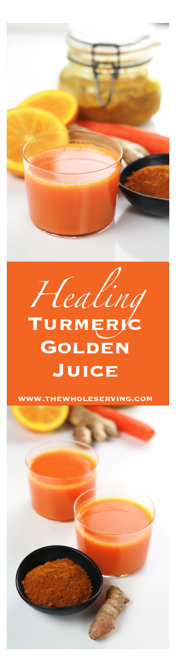 Healing Turmeric Golden Juice - A healthy anti-inflammatory drink you and your body deserves.
