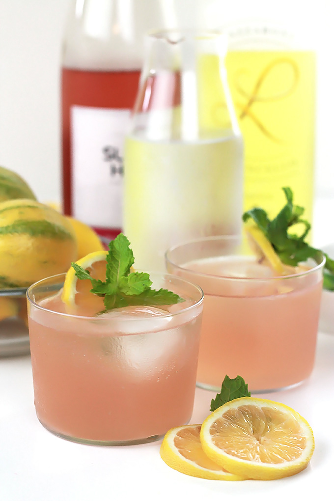 Clean, crisp and refreshing, this Pink Moscato Limoncello Spritzer is perfect for hot summer evenings relaxing with friends.