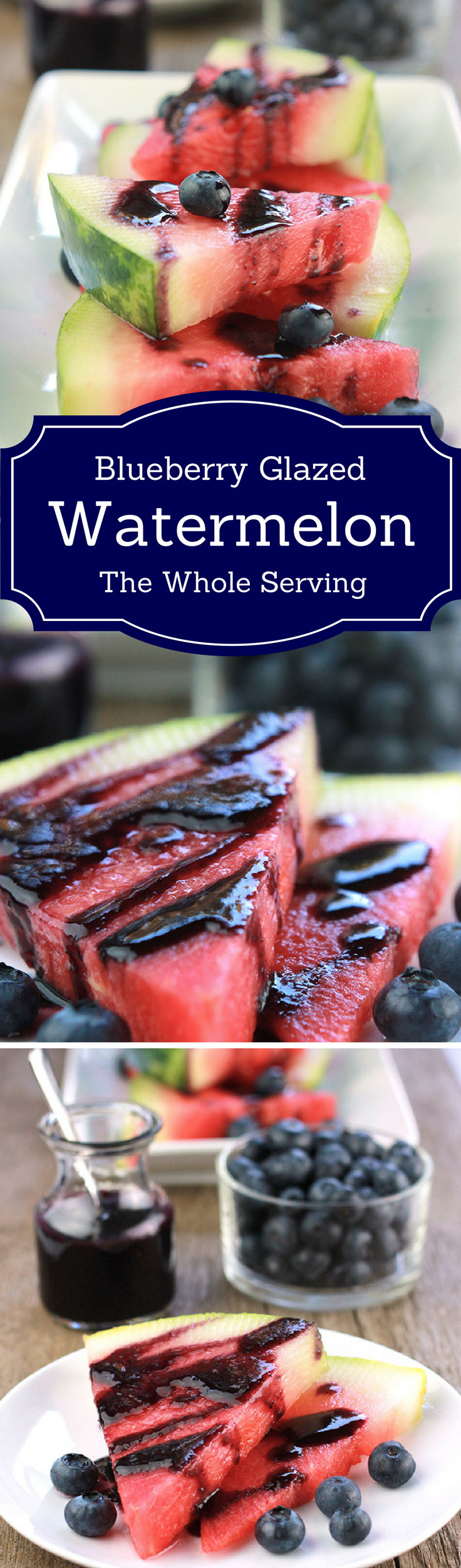Summer may be over but there's still summer fruit to enjoy. This Blueberry Glazed Watermelon is a prefect way to enjoy the last fruits of summer.