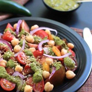 Cilantro Chutney With Heirloom Tomato Salad
