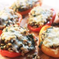 Kale & Farro Stuffed Peppers