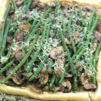 Black Friday Brunch-Easy Mushroom Green Bean Tart