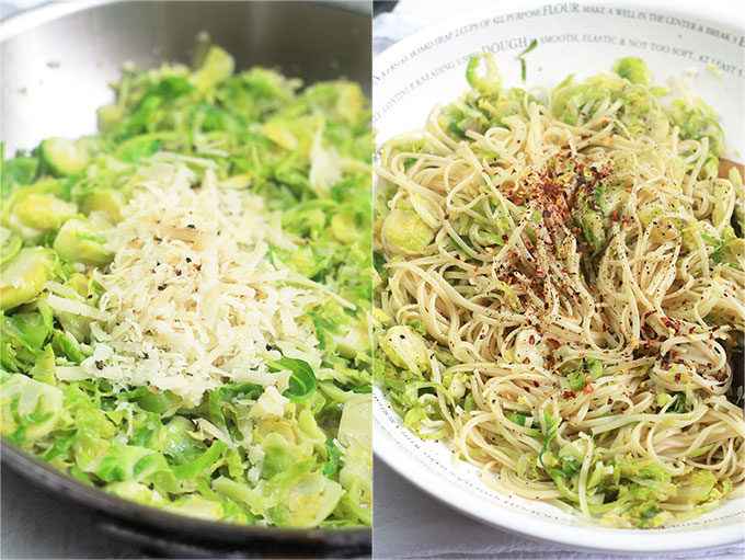 This quick and easy Brussels Sprout Linguine with White Wine will help you spend more time with friends during the busy holiday season.