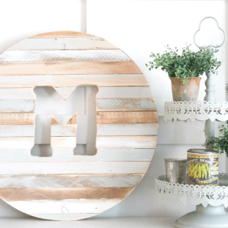 Pretty Pintastic Party #156 & DIY Monogram With Scrap Wood