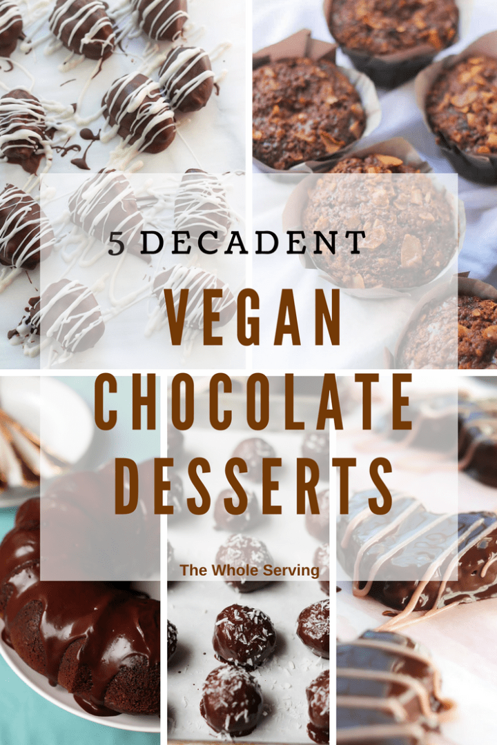 Valentine's Day is this Wednesday, time for some pretty sweets. Spoil your loved ones with one or all of these 5 decadent chocolate vegan desserts. They're easy and will make the day extra delicious!