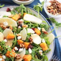 Easy Butternut Apple Arugula Salad