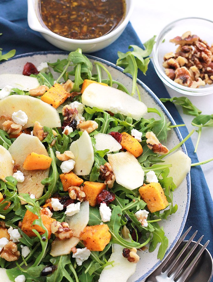 Plate of Butternut Apple salad