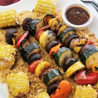 Harissa Spiced Grilled Veggie Kabob Recipe
