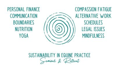 topics discussed at the sustainability in equine practice seminar and retreat