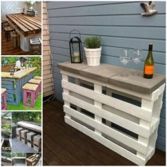 The Dump Sofa Table Canvas Cover Diy Pallet Wine Bar   Whoot