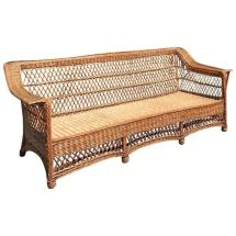 Antique Willow Bar Harbor Wicker Sofa
