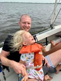 Sailing fun with dad