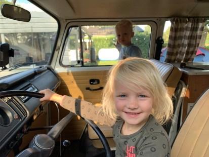 Isa behind the wheel