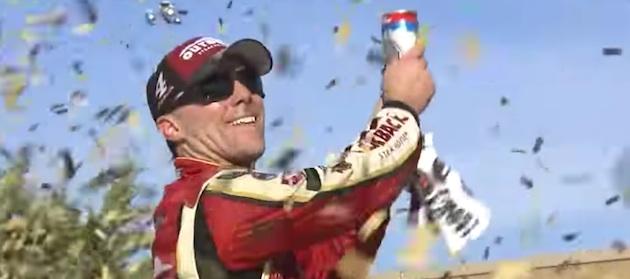 Kevin Harvick Celebrates Kansas