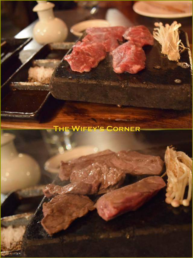 Wagyu hot rock - self-cook your own wagyu sirloin AA5+ just the way you like it, with dipping sauces