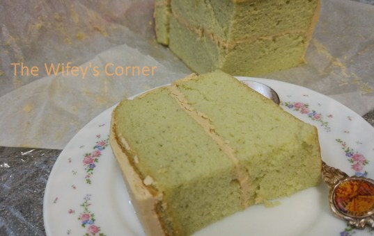 Pandan Cake with Gula Melaka Swiss Meringue Butter Cream