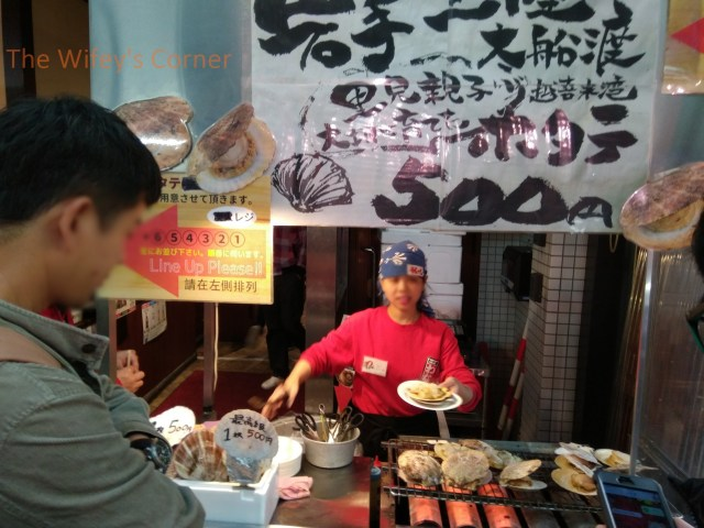 Kuromon market grilled scallop