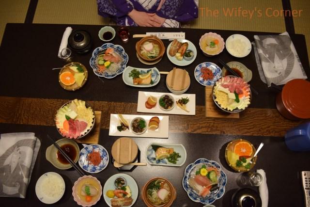 ryokan tanabe kaiseki dinner