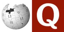 Wikipedia and Quora logos
