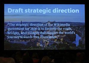 Draft strategic direction at Wikimania 2017