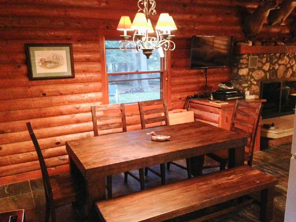 Tiled Fireplace Pictures Cabins For Rent Northern Wi | The Wilderness Reserve
