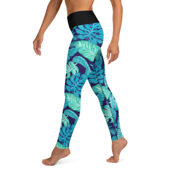 Exotic Blue Yoga Leggings