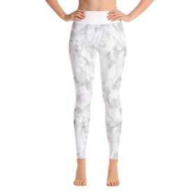 white marble leggings